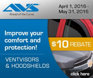 AVS Hoodvisor & Hood Shield Rebate